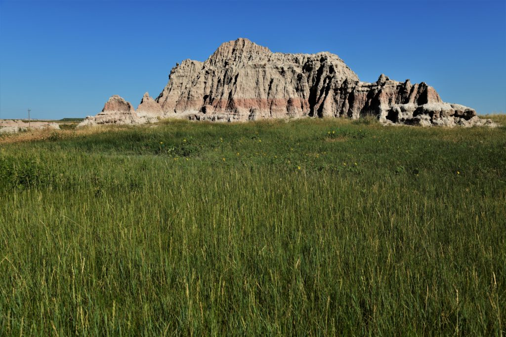 Grass and badlands