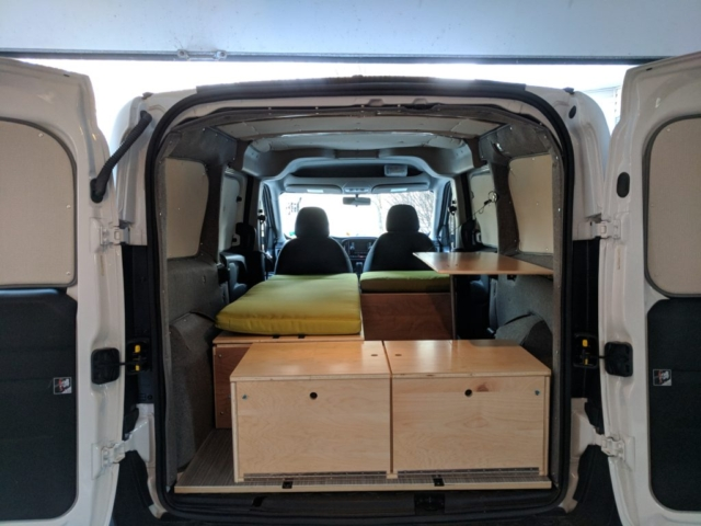 Van complete assembly, including table