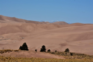 dunes and mountain