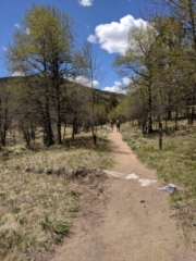 Hikers on Mosca Trail